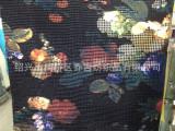 新品 网布印花复合绒布 服装面料