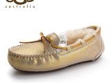 2014澳洲新款Ugg雪地靴女时尚韩版真皮豆豆鞋冬季驾车鞋一件代