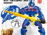 群逸 益智积木变形玩具 变形金刚战队 擎天柱 超酷男孩玩具