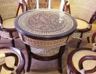 串珠藤编茶台椅 贵港美式家具 河池红木家具