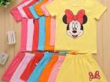 童装批发厂家直销 地摊货源夏季女童卡通短袖公主连衣裙