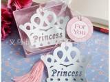厂家批发婚庆回礼 活动小礼品 晚会小礼物 粉色盒装皇冠书签