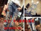 春夏韩版时尚新款女式牛仔裤批发便宜破洞休闲牛仔裤清货