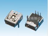 厂家供应MINI USB 5PF 90度四脚插板 MINI贴片连