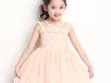 女童夏季公主连衣裙 韩版中大儿童蕾丝背心蓬蓬裙子 演出服新款