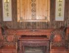 高价-专业-老红木家具收购大红酸枝沙发雕花家具回收