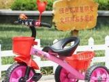 儿童用粉红三轮小单车