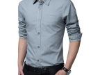 2014秋季新款男式长袖休闲衬衫 百搭翻领修身男士打底衬衫潮