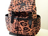 2014新款日系学院风书包韩版PU豹纹双肩包时尚旅行包背包潮女包