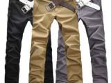 免费代销代发货  韩版修身休闲长裤 男式直简布裤子 日系男装
