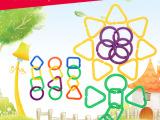 供应儿童益智拼接积木玩具 几何积木益智早教启蒙玩具 批发