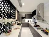廚房儲物柜定制玻璃門板櫥柜定做現代簡約風格