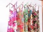 一件代发爆款 莫代尔满身印碎花花朵莫代尔Y字吊带背心 韩版日系