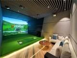 室内高尔夫模拟器球场家用投影系统儿童套装虚拟设备