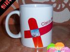 cisco企业宣传用杯 热转印彩色图案马克杯 涂层可印照片广告杯