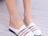 2014夏季新款女鞋镂空网纱拼接凉拖鞋时尚甜美拖平底女半拖鞋批发