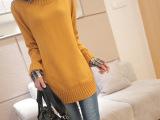 2014秋装新款 女装复古毛衣外套女 长款毛衣女 韩版宽松打底衫