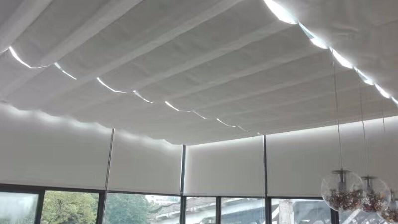 松江窗帘定做 松江新城定做办公室卷帘铝百叶阳光房电动蜂巢窗帘
