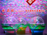 新款旋转水晶魔球led投影灯 七彩星空舞