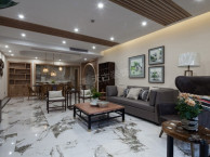 香港置地约克郡装修案例 悦水岸150平米中式风格设计实景图