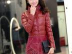 正品2014冬装新款韩版PU皮棉衣女中长款加厚修身版棉衣外套女棉袄