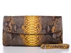 厂家直销 印尼蟒蛇皮 特种珍稀皮 真蟒蛇皮手包