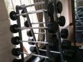 橡胶地垫缓冲运动地垫游乐地板地胶杠铃哑铃家用健身房力量区专用