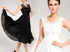 2013 雪纺蕾丝气质大摆拖地显瘦修身长裙两件套 礼服女