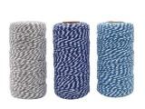 双色合股线装饰用包粽子棉线手工编织DIY彩色棉绳