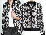 2014春夏新款欧美风 ASO复古风印花休闲外套防晒衣田园夹克衫