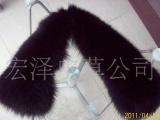 厂家自产自销狐狸毛领毛条帽条 皮草服装辅料 狐狸毛条毛领