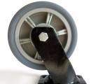 6寸工业灰胶静音脚轮tpr万向轮子 推车轮子