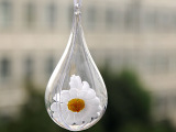 ps环保材质新料制作水滴珠形状圣诞球透明