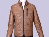 新款秋冬季 男士韩版修身立领加绒皮衣外套 休闲皮衣男装外套