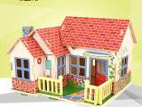 若态3D立体拼图拼板儿童益智早教创意玩具diy小屋木制模型F30