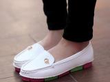 春季豆豆鞋女鞋超柔彩虹底圆头平跟单鞋平底低帮鞋休闲驾车鞋