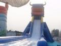 二手支架水池水上滑梯充气水池鲸鱼岛水上冲关城堡等等