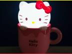 福龙新品 杯杯卡通卧室床头灯kitty猫咪灯 USB充电LED台灯 礼品灯