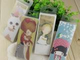 韩国文具 PP盒装书签 卡片 留言卡 女孩与猫系列 30张 4款