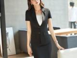 新款短袖夏季两粒扣职业套装女美容院珠宝店导购工作服批发