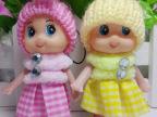 韩版围巾帽子小丑娃娃创意热卖小格子搪胶可爱手机挂件批发