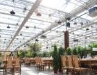 甘肃张掖大型连栋玻璃生态餐厅565中空钢化玻璃专业施工厂家