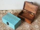 带锁木盒 ZAKKA带盖复古做旧木盒