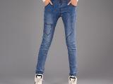 时尚女式哈伦牛仔裤 2015春季韩版修身显瘦铅笔小脚裤 优质女裤