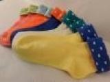 外贸代工爆款 创意翻边日系女袜 全棉糖果色 女 中筒袜 厂家直销
