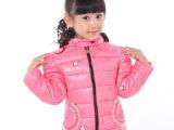 2014新款女童棉衣 时尚儿童羽绒棉内胆卡通米奇印花女童棉衣