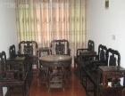 酸枝红木八仙桌回收沙发床厨茶桌中堂老红木家具回收