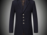 2014冬季新款精品男装 大牌风 男士羊毛呢大衣 男士风衣大衣男