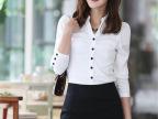 樵JIAO热销 韩版特价女式衬衫 新款修身多纽扣长袖衬衫女批发