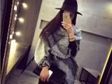 韩版新款秋冬季羊绒格子加厚女士韩国棉麻大披肩超长两用冬天围巾